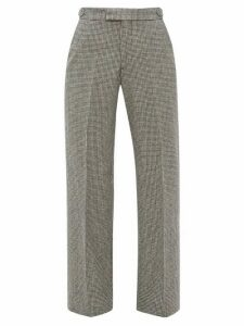 Officine Générale - Celeste Houndstooth-check Wool Trousers - Womens - Black White