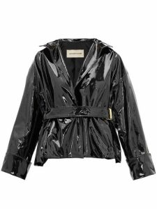 Alexandre Vauthier - Patent-leather Belted Jacket - Womens - Black