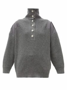 Stella Mccartney - Oversized Wool Sweater - Womens - Grey