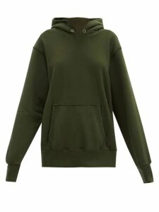 Les Tien - Classic Fleece-backed Cotton Hooded Sweatshirt - Womens - Khaki