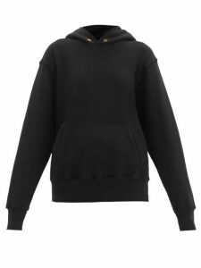 Les Tien - Loop Back Cotton Hooded Sweatshirt - Womens - Black