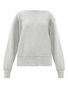 Les Tien - Loopback Cotton Sweatshirt - Womens - Grey