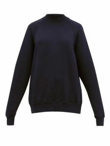 Les Tien - Raglan Sleeve Cotton Sweatshirt - Womens - Navy