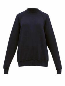 Les Tien - Raglan-sleeve Cotton Sweatshirt - Womens - Navy