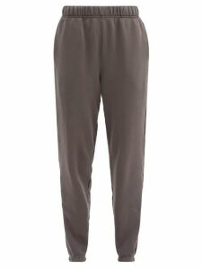 Les Tien - Classic Cotton Loop Back Jersey Track Pants - Womens - Dark Grey