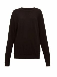 Les Tien - Cotton-jersey Sweatshirt - Womens - Black