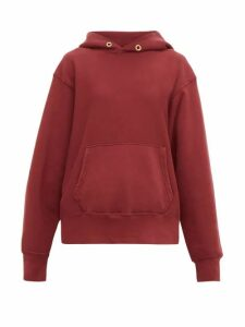 Les Tien - Loop-back Cotton-jersey Hooded Sweatshirt - Womens - Burgundy