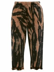 Les Tien - Tie-dye Cotton-jersey Straight-leg Track Pants - Womens - Navy Multi