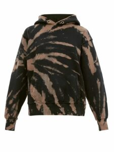 Les Tien - Tie Dye Cotton Jersey Hooded Sweatshirt - Womens - Navy Multi