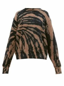 Les Tien - Tie Dye Cotton Jersey Sweatshirt - Womens - Navy Multi