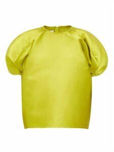 Marques'almeida - Blouson-sleeve Faille Top - Womens - Green