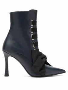 Tabitha Simmons - Farren Lace-up Leather Boots - Womens - Black Navy