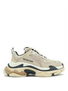 Balenciaga - Triple S Mesh And Leather Trainers - Womens - Beige Multi