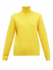 Aztech Mountain - Matterhorn Roll Neck Wool Sweater - Womens - Yellow