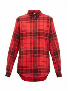 Aztech Mountain - Loge Peak Checked Cotton-flannel Ski Shirt - Womens - Red