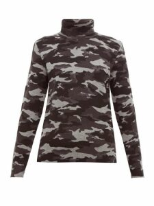 Aztech Mountain - Matterhorn Camouflage-jacquard Roll-neck Sweater - Womens - Black Multi