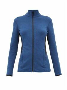 Aztech Mountain - Bonnie's Rubberised-logo Zip-through Sweater - Womens - Blue