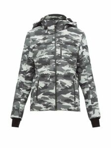 Aztech Mountain - Nuke Quilted Camouflage-print Ski Jacket - Womens - Black Multi