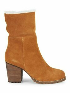 Jovie Faux Fur-Lined Suede Booties