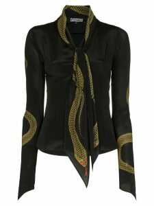 Rockins snake-print blouse - Black