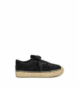 UGG Women's Brianna Suede Loafer in Black, Size 9