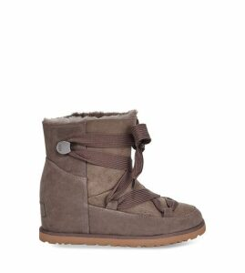 UGG Women's Classic Femme Lace-Up Boot in Slate Grey, Size 9