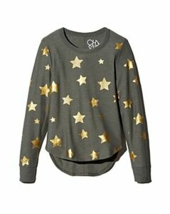 Chaser Metallic Star Print Sweatshirt