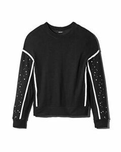 Monrow Supersoft Star-Sleeve Sweatshirt