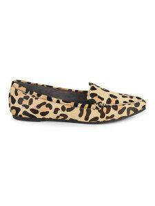 Animal-Print Calf Hair Loafers