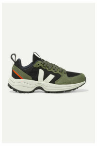 Veja - Venturi Suede And Leather-trimmed Mesh Sneakers - Army green