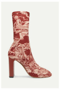 Neous - + Timba Smits Laeila Printed Stretch-jersey Sock Boots - Burgundy