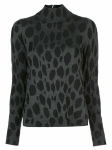 Akris Punto cheetah pattern jumper - Grey