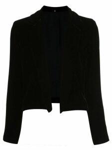 Peter Cohen velvet cropped blazer - Black