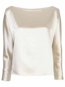 Peter Cohen silk plain blouse. - NEUTRALS