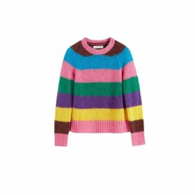 Chinti & Parker Multicoloured Striped Alpaca-merino Sweater