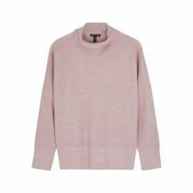EILEEN FISHER Mauve Roll-neck Wool Jumper