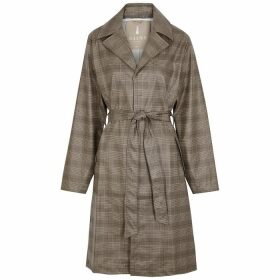 Rains Checked Coated Trench Coat