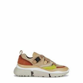 Chloé Sonnie 50 Camel Leather Sneakers