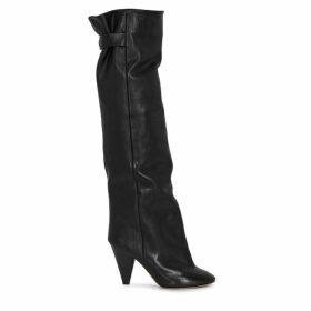 Isabel Marant Lacine 100 Black Leather Knee-high Boots