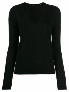 Aspesi V neck jumper - Black