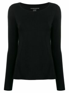 Majestic Filatures boat neck long-sleeved T-shirt - Black