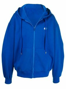Ader Error oversized cut-out hoodie - Blue