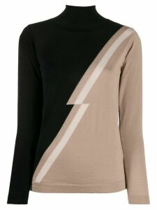 Chiara Bertani two tone knit jumper - Black