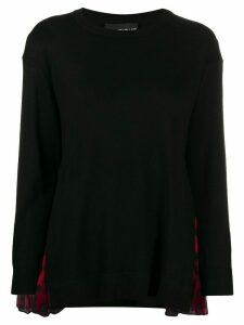 Boutique Moschino leopard print patch jumper - Black