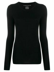 Majestic Filatures round neck long-sleeved T-shirt - Black