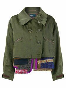 Kolor multi-panel deconstructed jacket - Green