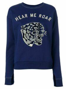 Zoe Karssen Hear Me Roar sweatshirt - Blue