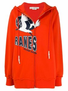 Golden Goose Cranes logo hoodie - ORANGE