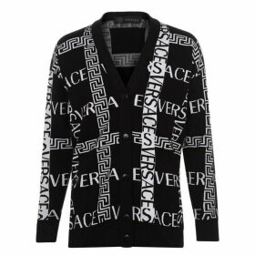 Versace Cross Logo Cardigan