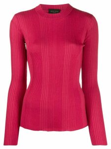 Roberto Collina ribbed long sleeve top - PINK